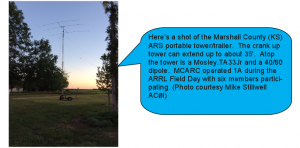 MCARC antenna setup Field Day 2014